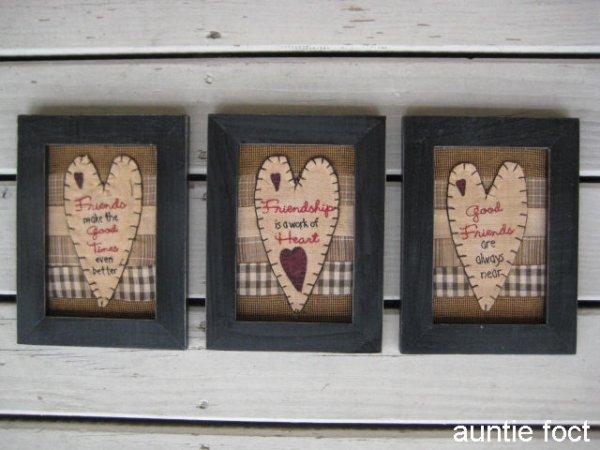 画像1: 32974 刺繍フレーム(ハート) W155×H205×T15 *完売しました。