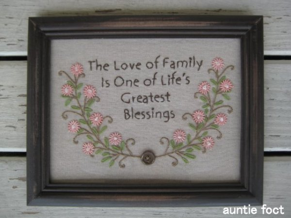 画像1: 3463 刺繍フレーム Love Of Family Frame W255×H205 *完売しました。