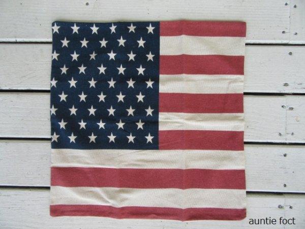 画像1: アメリカン・クッションカバー(カバーのみ) W450×H450 *SALE価格¥450(税別)・限定数