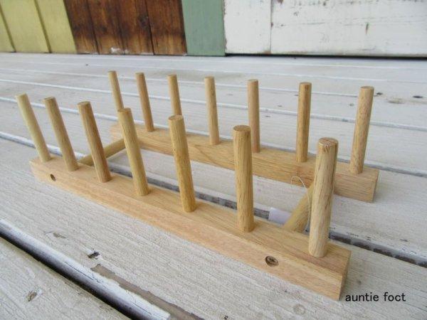 画像1: 木製ディッシュスタンド ボヌール (約)幅295×奥行120×高さ85mm  *SALE価格¥450(税別)・限定数