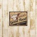 アンティークエンボスプレート[Good Food] (約)W25×H20cm