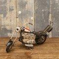 <ミニ>ヴィンテージカー[Old バイクUS] USA  (ブリキ製)  (約)W.19.5xD.8.5xH.11.5cm
