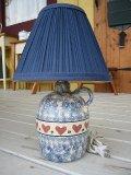 陶器ランプカントリーピンクハートUSA製(電球別売) W230×H350×D230
