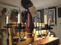 USAシャンデリア(レッド&マスタード) W480×H400(チェーン部分のぞく)(電球別売)